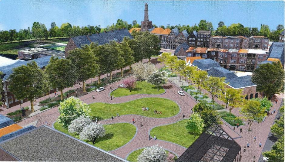 Plein Garenmarkt Leiden kleurt groen