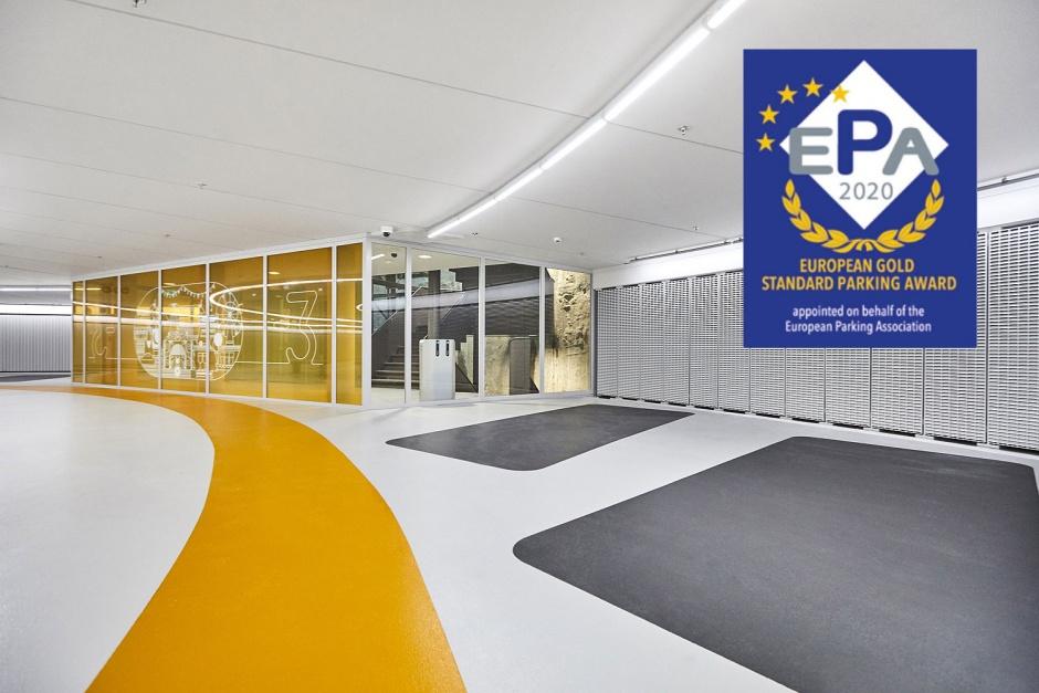 ESPA Gold Award voor Parkeergarage Garenmarkt Leiden